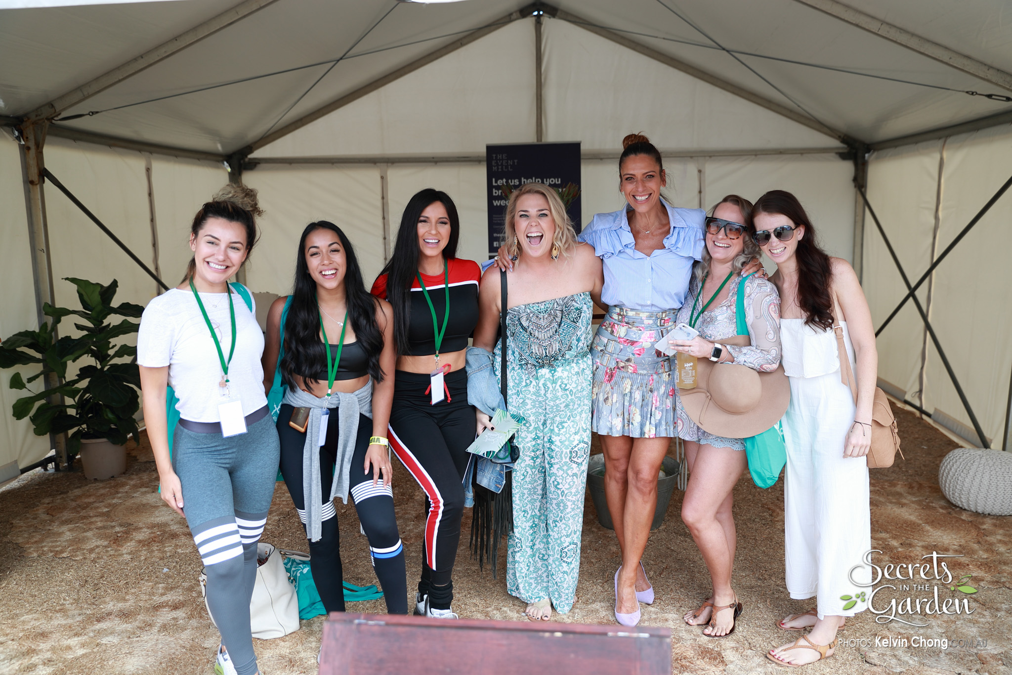 Perth Bloggers and VIP Guests in the Media Tent
